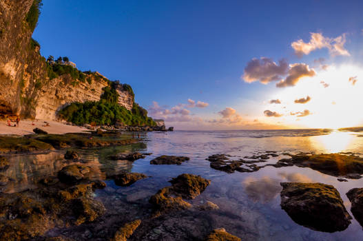 Sunset at Suluban Beach, Uluwatu, Bali