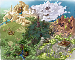 7 Section World Map by MoMoJaH