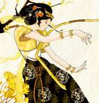 Golden Chinese Harp