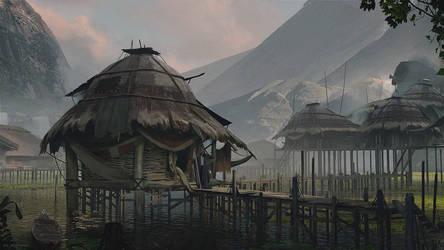 Floating Village by AhmedElJohani