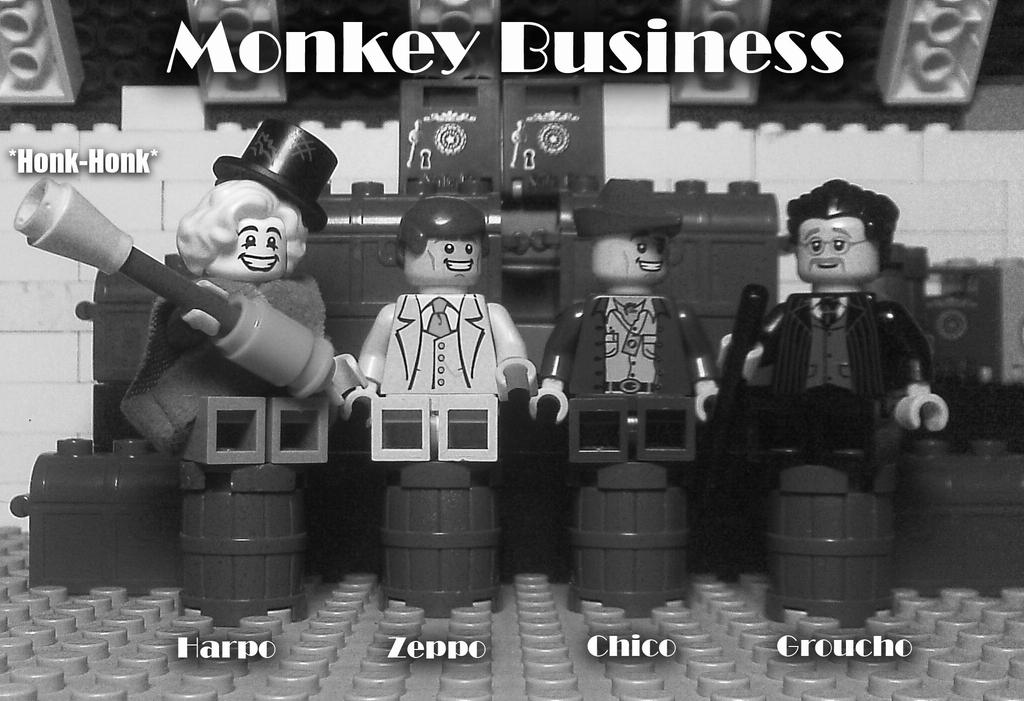 Marx Brothers Gone Lego (Monkey Business) by Solidfact
