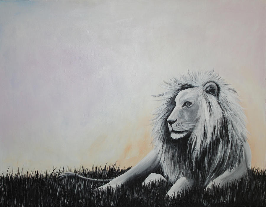 White Lion Dreamscape by BrielleCoppola