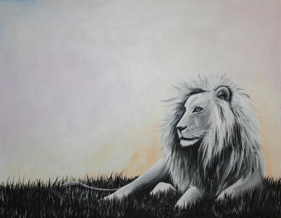 White Lion Dreamscape by BrielleCoppola