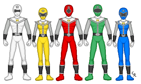 Power Rangers Tribal Warriors by kram-elbog