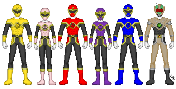 Power Rangers Chitin Warriors by kram-elbog