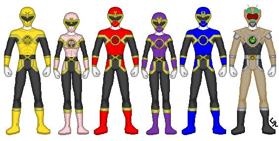Power Rangers Chitin Warriors by kram-elbog