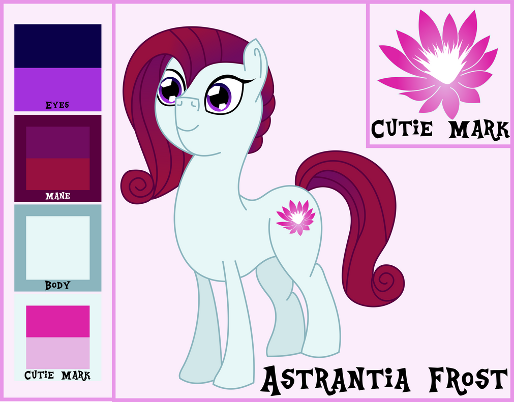 Astrantia Frost Reference and Bio by OddishPonyArt