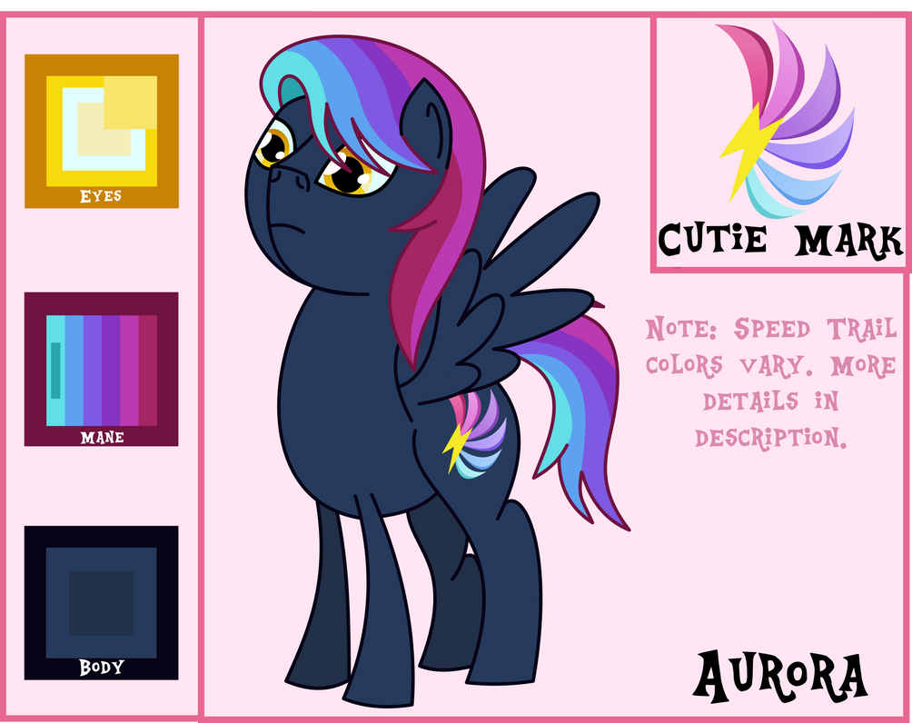 Aurora Reference and Bio by OddishPonyArt