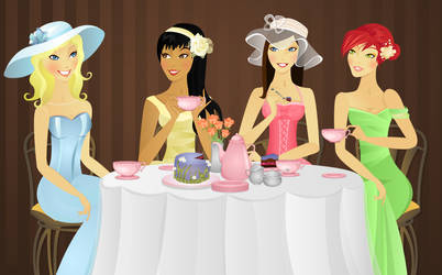 Victorian Tea Party by Ansie-Ans