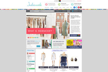 Indiemode Home Page Design by Ansie-Ans