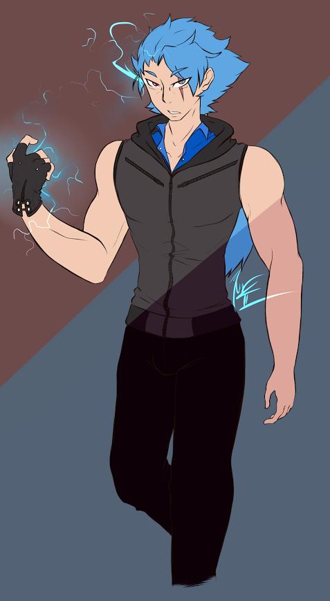 Blitz Blue! (Super Hero Carmeo) by bloodhound1234