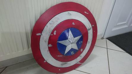 battle damaged Captain America Shield (foam)
