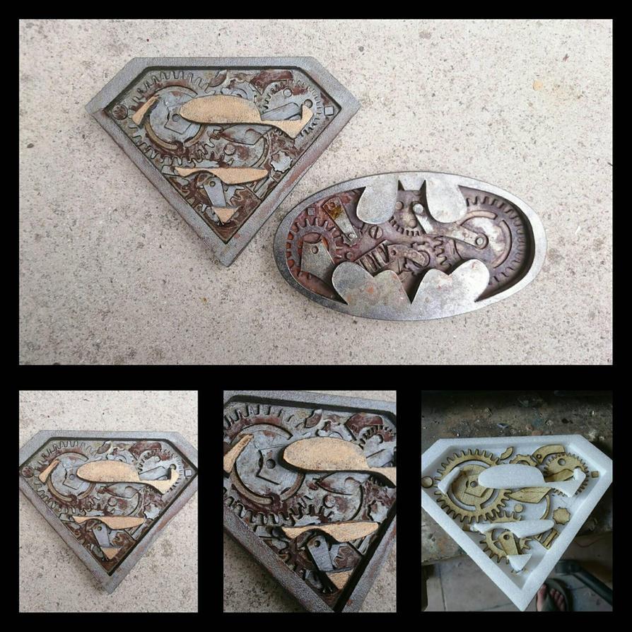 steampunk superman by nemo13400