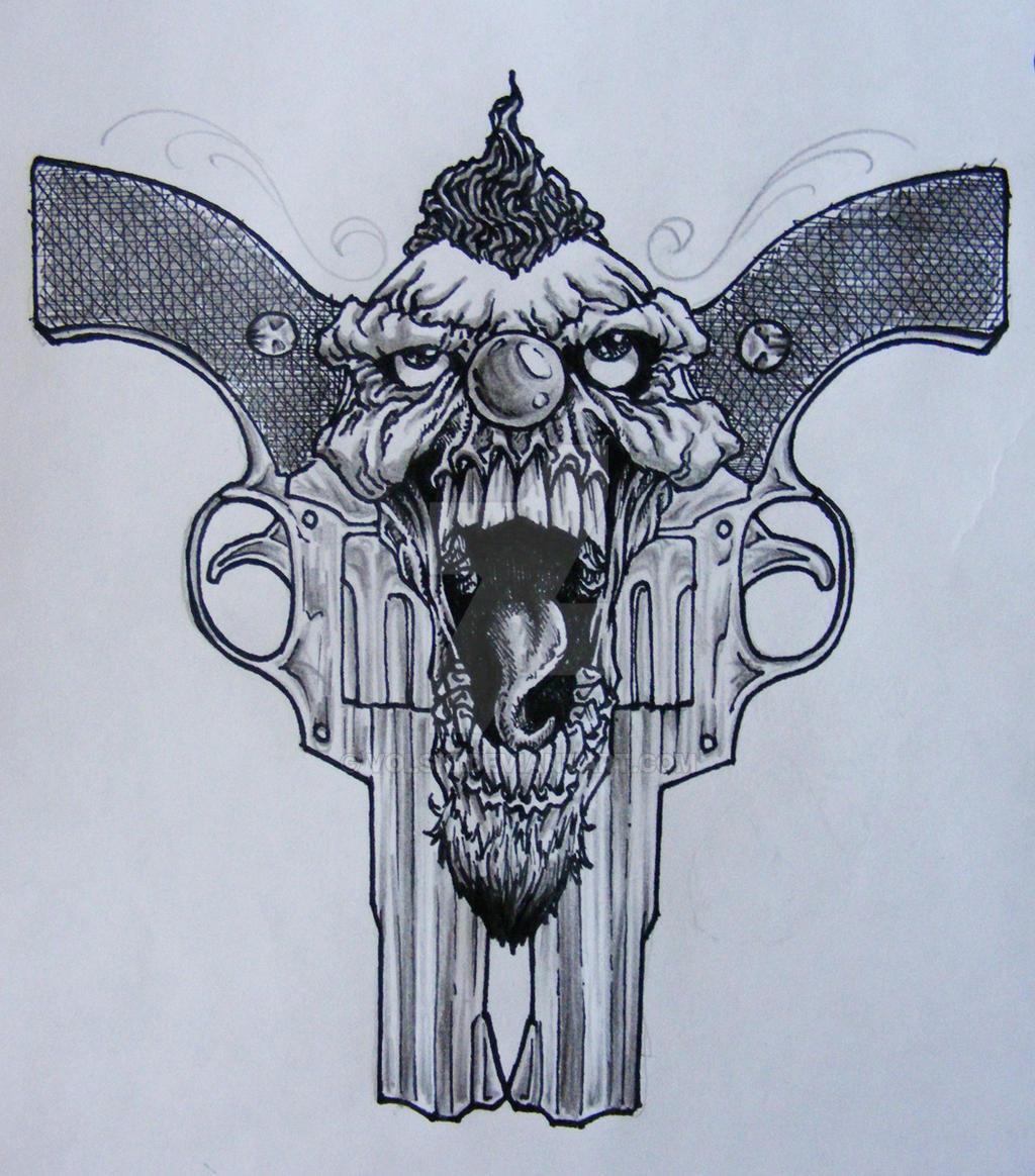 Gangster Clown Girl Tattoo Designs