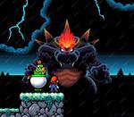 Bowser's Fury - Yoshi's Island style