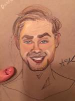 Dacre Montgomery Sketch with Color