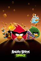 Angry Birds Space HD iPhone Wallpaper by Dseo