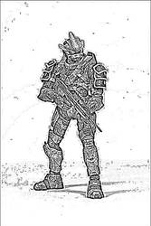 Hayabusa Drawing