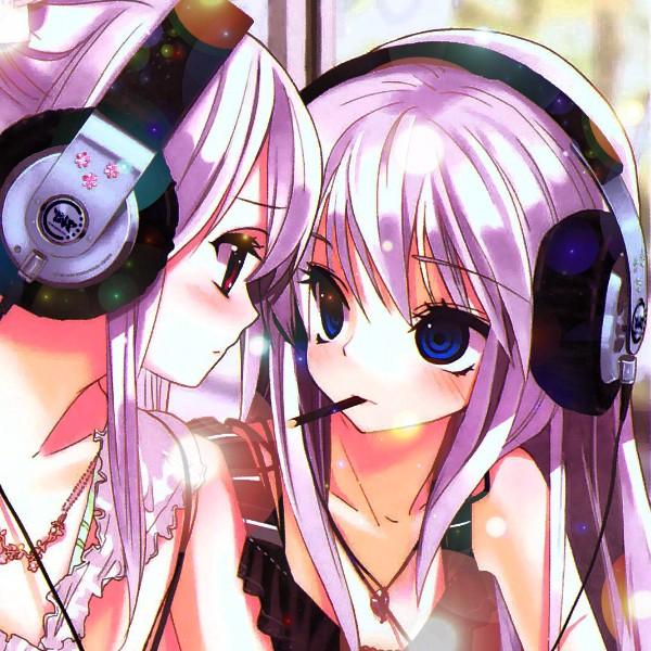 Cute Anime Girl With Headphone By Rickynexus On Deviantart