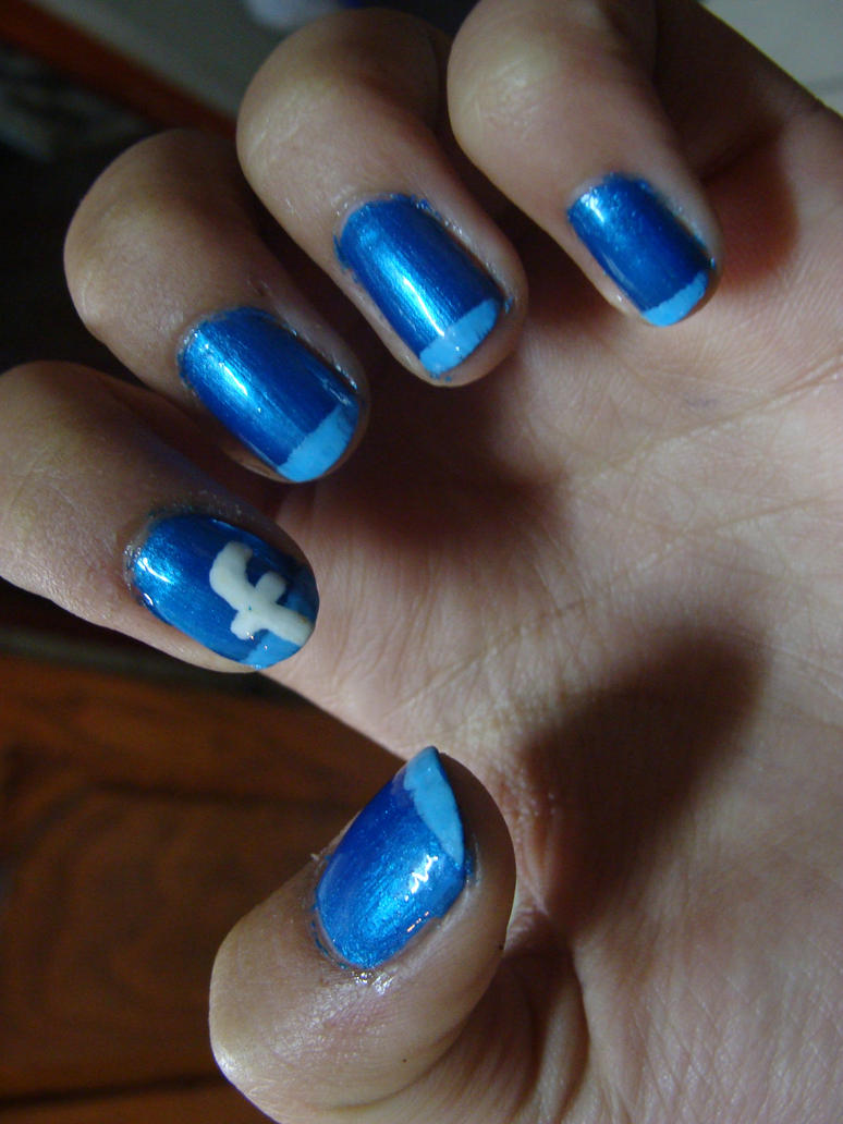 Facebook nails by camilaccd on DeviantArt