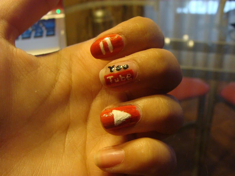 Youtube Nails By Camilaccd On Deviantart