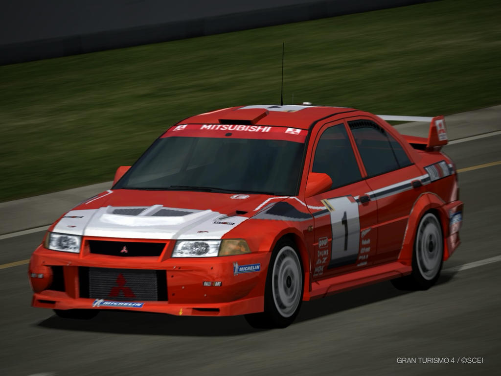 Mitsubishi Lancer Evolution VI Rally car driving by patemvik on ...