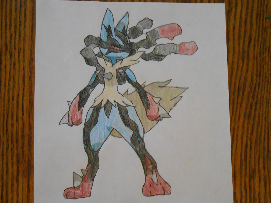 Mega Lucario by Spyroconvexity