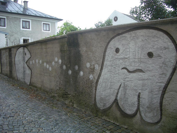 Pac-Man Graffiti by ShirinGarou