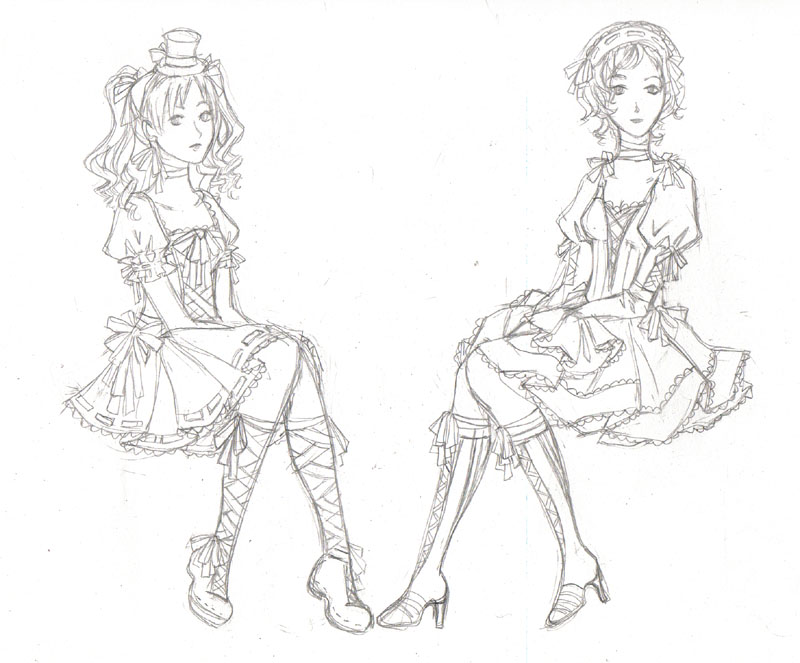 Une nouvelle question? - Page 5 Gothloli_Lenalee_and_Miranda_by_fanartsketches