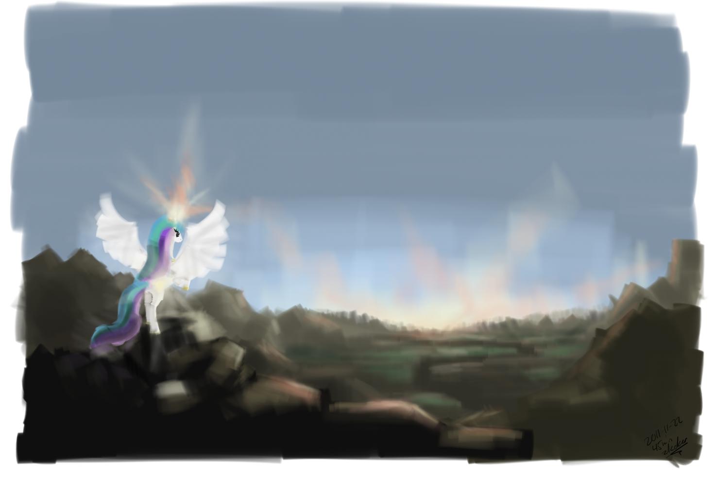 timed practice - celestia sunrise by zlack3r