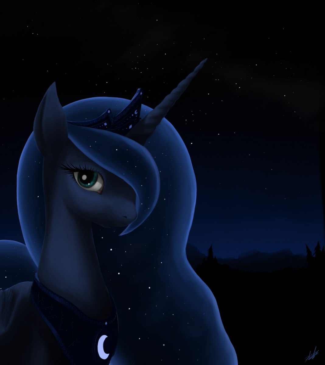 Princess Luna by zlack3r