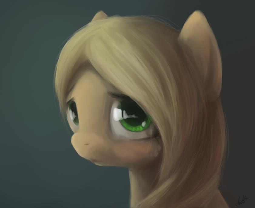 applejack portrait by zlack3r