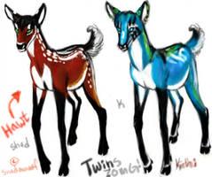 Deer twins! by KichisCrafts