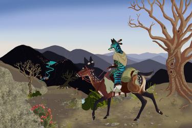 Arid Mountainside Travel (Work in progress) by KichisCrafts