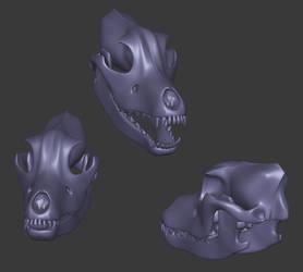 3d dog skull by KichisCrafts