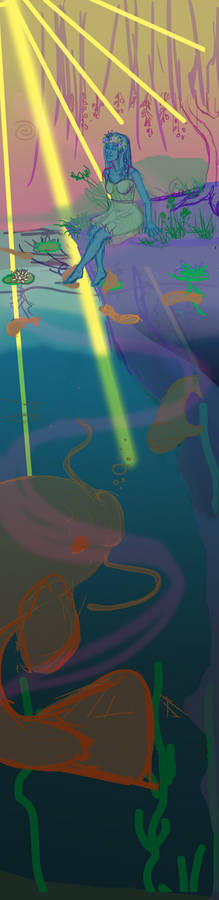 Lady In The Deep Pond WIP 2