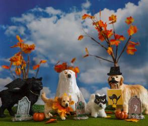 Dollhouse Miniature 1:12 Halloween Pups by heartfeltcanines