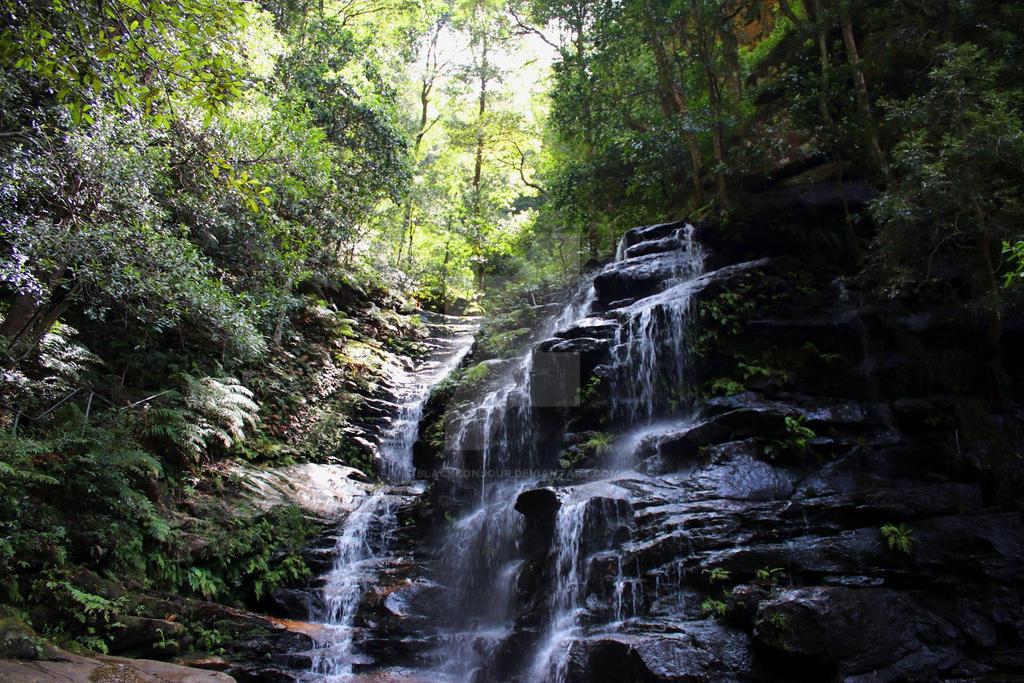 Blue Mountains Waterfall