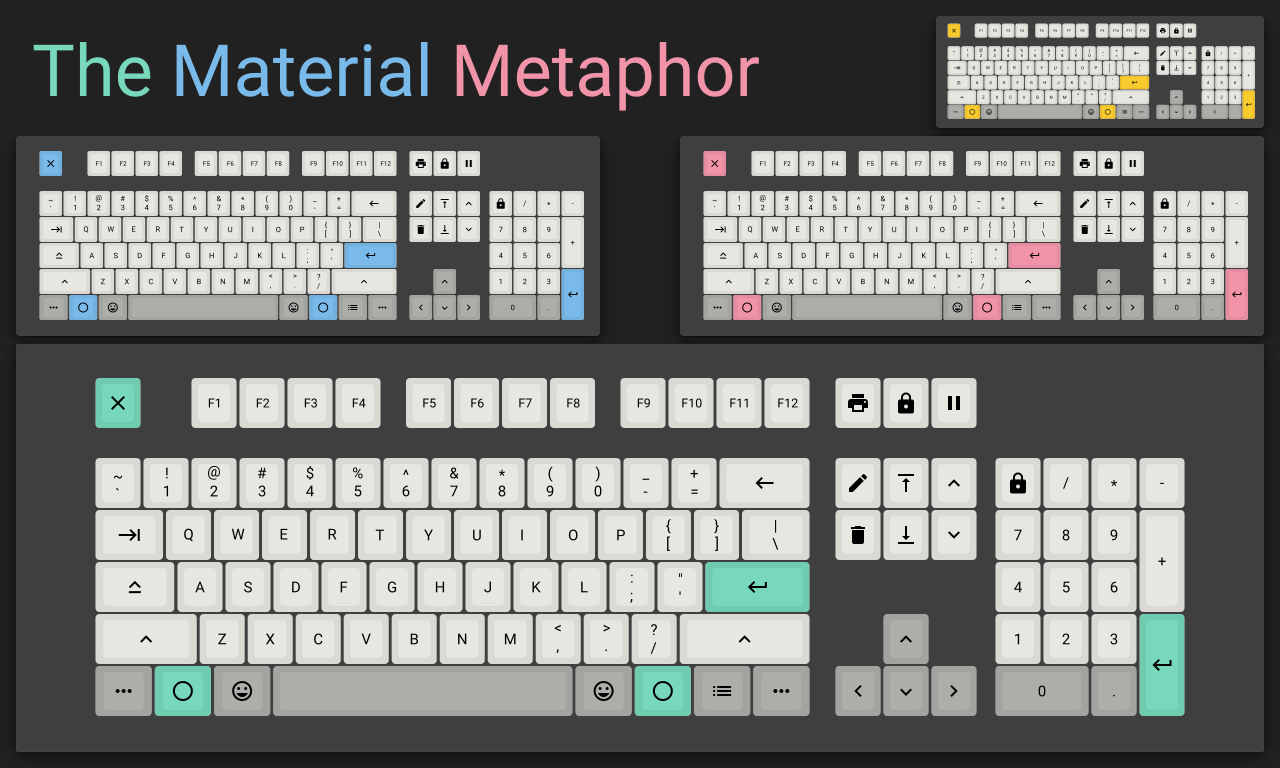 Keycap Set] The Material Metaphor by ShiningWingPony on