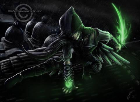 Raven, the Black Hawk assassin
