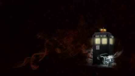 Halloween TARDIS wallpaper