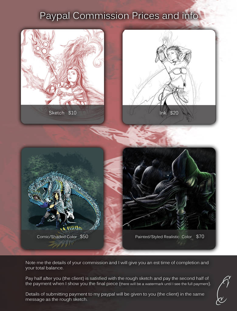 Commission Prices and Info