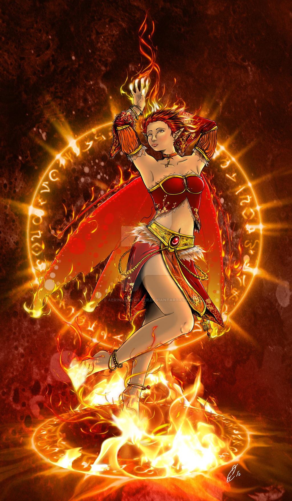 PRINT: Fire Fairy by Aerindarkwater on DeviantArt