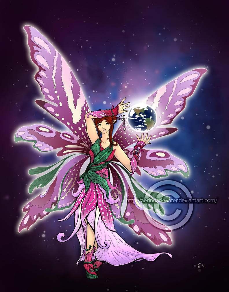 Commission: Mother Earth fairy by Aerindarkwater on DeviantArt
