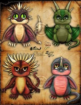 Triwizard Chibi Dragons