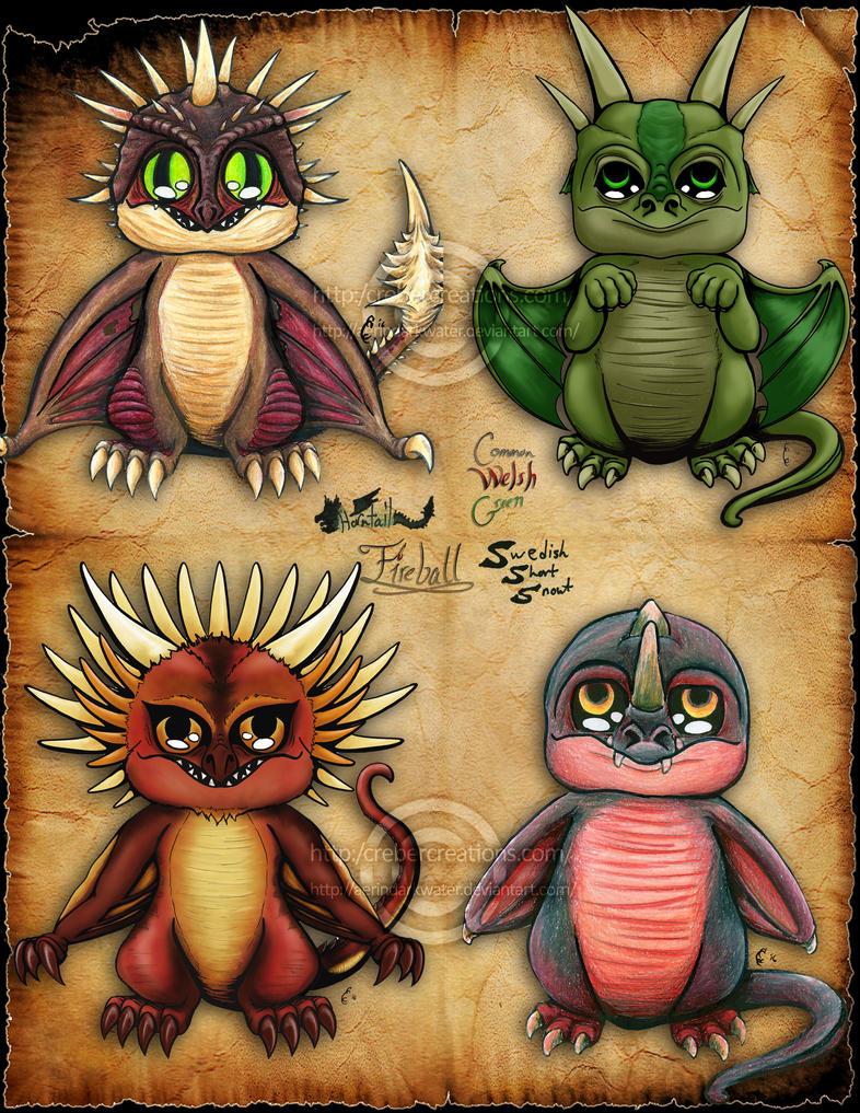 Triwizard Chibi Dragons by Aerindarkwater