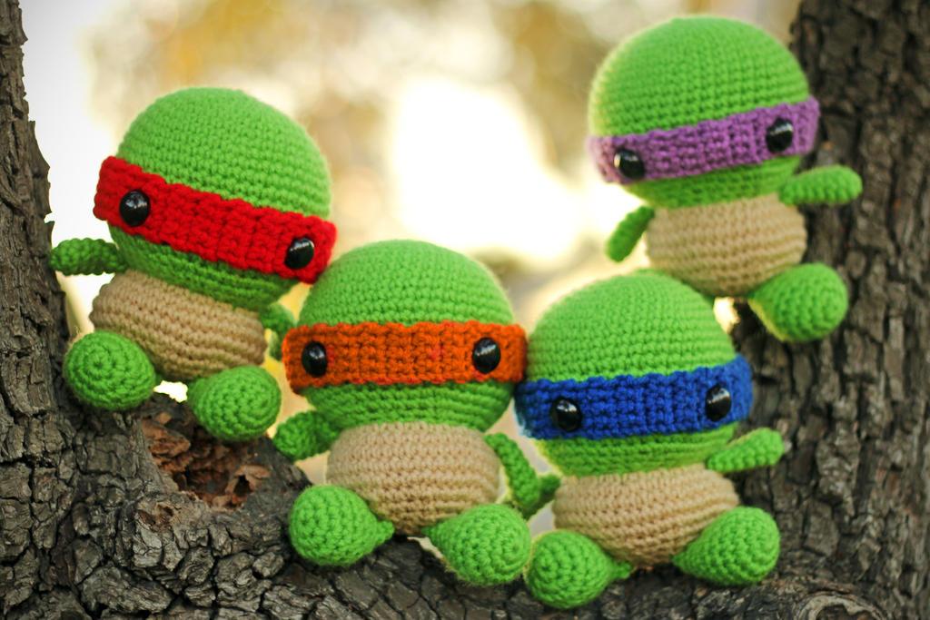 Amigurumi Turtle : Chibi ninja turtles amigurumi by cyellow on deviantart