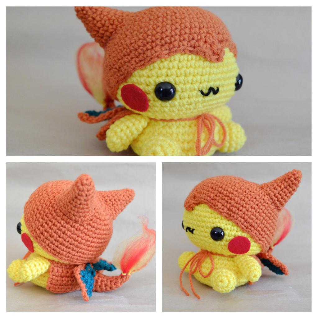 Chibi Pikachu Amigurumi : Pikazard Amigurumi by cyellow on DeviantArt