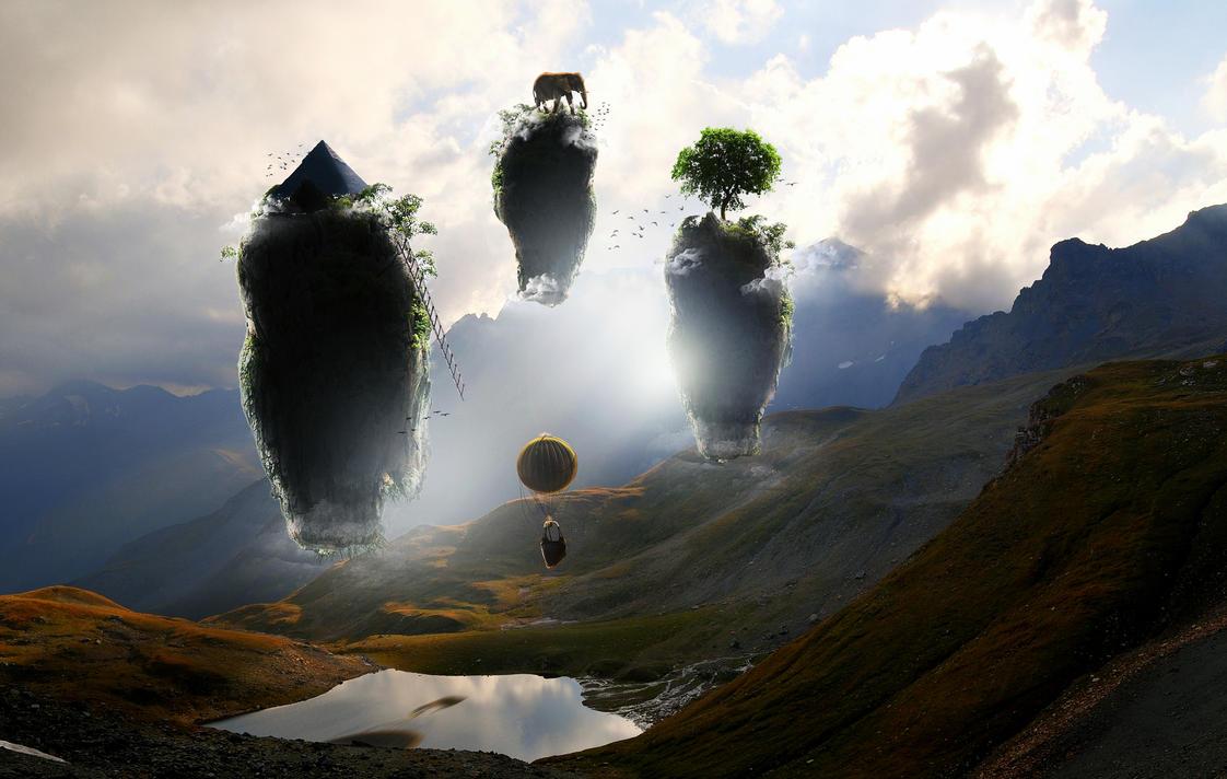 Flying Islands by BwlMcBrt