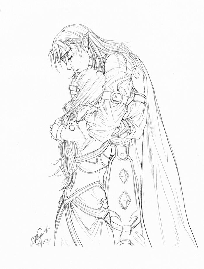 Jaina and Kalecgos: Grief and love by TemplumSanctus